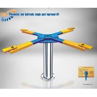 pneumatic abd hydraulic single post inground lift
