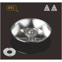 Plastic PMMA LED lens 91mm 10 degree