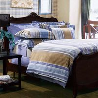 Fuanna Space Time 3 Pieces Set Cotton Printed Queen Duvet Cover and Pillow Shams