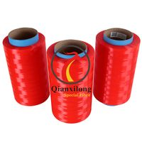 Red colorful UHMWPE yarn for fishing lines 75D