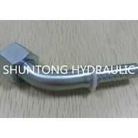 PIPE FITTING HOSE ADAPTER HYDRAULIC FITTING 45° ORFS FEMALE FLAT SEAL