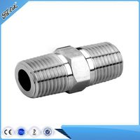 Stainless steel hex nipple, hot sele pipe fitting