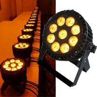 China supplier 9PCS 18W RGBWA+UV 6in1 outdoor waterproof IP65 dmx led par light for gardern square thumbnail image