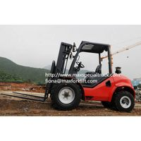 Maximal 4-wheel drive rough terrain forklift