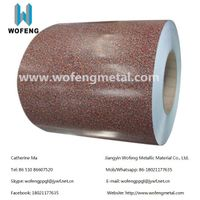 Stone Pattern PPGI Zinc Color Coated Galvanized Steel Coil From China