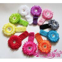 Hot sale Daisy flower baby Headband/Kids crochet headband/flower headband