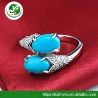 Turquoise rings Type and Rhinestone,Crystal Main Stone muslim jewelry gold rings