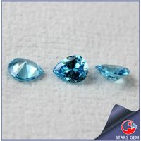 Aquamarine Blue Pear Shape Diamond Cut Shining Cubic Zirconia