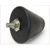 Rubber damper screw insert