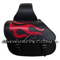 Motorcycle Saddle Bag Throwover Flame bag