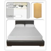 8-Inch SureTemp Memory Foam Mattress 3 layers