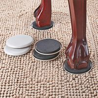 """1/2"""" Round Furniture Sliders For Carpet 3.5 Inch Diameter Furniture Movers Easy For Moving Furniture"""