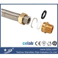 stainless steel304 flexible corrugated pipe with fittings