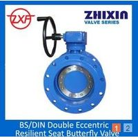 DI BS EN593 Resilient Seated flanged Double Eccentric Butterfly Valve