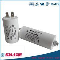 white plastic round case cbb60 capacitor 40uf 250v
