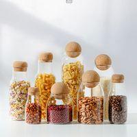 Food Storage Jar with Lid Cork