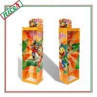 CMYK Printing cardboard Jewelry Display Stands