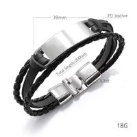 Alloyed Bracelet Magnetic Clasp Cowhide Braided Multi-Layer Wrap Mens Bracelet