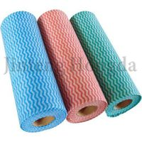 High absorbency soft spunlace nonwoven cleaning cloth