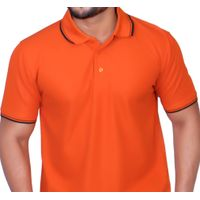 Premium Polo Neck Polyester Drifit T-shirt with Tipping