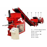 SR 1-10 hydraulic clay interlocking brick making machine