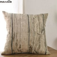 Pillow Case Creative Wooden Grain Cushion Cover Decorative Conjines Fundas Cotton Linen Pillow Cases