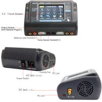 T240 AC 150W DC 240W 10A Touch Screen Dual Channel Battery Balance Charger Discharger for RC Toys