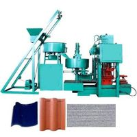concrete Tiled Roof Making Machine,Roof Cement Tiles Press Machine thumbnail image