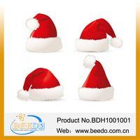 2014 hot selling plush christmas hat for kids thumbnail image