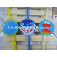 fish tag drinking straws