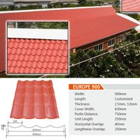 Anti-aging ASA+PVC roof tile prices/ASA coated PVC plastic roofing