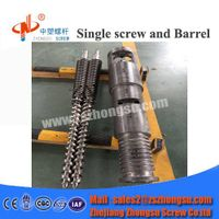 PP PE Blowing Film Extruder Conical Twin Screw and Barrel