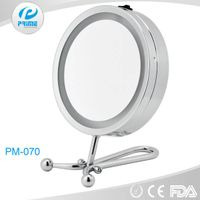 Promotional multi-functional illuminated handheld & desktop cosmetic mirror