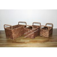 Hot item water hyacinth storage basket-SD2657A-3BR02
