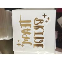 gold and silver metallic temporary tattoo sticker