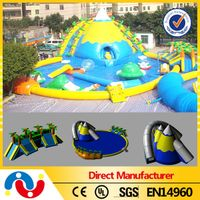 Hot SaleOutdoor Large Inflatable Ground Water Park, Water Park Slide