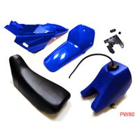Yamaha PW80 PEEWEE PW 80 Plastic Fender Body Seat Gas Tank Kit