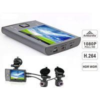 2014 New waterproof ambarella a7 gps h.264 rear view camera mirror dvr car dash camera full hd mini  thumbnail image
