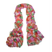 Hot plaid fashionable viscose screen printing scarf for lady