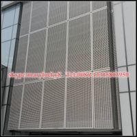 Aluminum Perforated Metal mesh/curtain wall powder coated perforated mesh