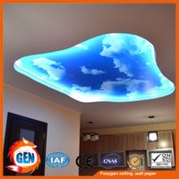 office ceiling design simple style light backlit ceiling film