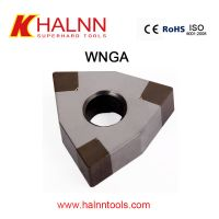 BN-K20 WNGA080404 CBN inserts for finishing brake drum with high efficiency than coated carbide inse