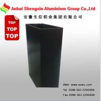 white powder coated aluminium profile