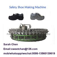 pu safety worker shoes foaming machine, canvas shoes injection machine