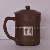 Hand Engraving Ceramic Tea Cups Dog Tea Mug Nixing Purple Clay Tea Cup