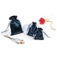 High Quality  Custom Printed Drawstring Satin Jewelry Pouches,Satin Bag