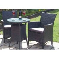 KD design rattan chairs and table