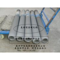 Thermal spraying coating for piston pump piston