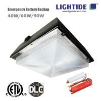 Emergency Backup LED Parking Garage Lights, 40W, 100-277vac, 90 min. emergency time, 5 yrs warranty