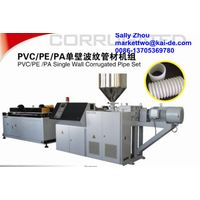 PA/PVC/PE single wall corrugated pipe extrusion machine